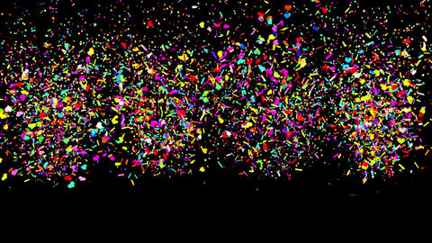 99 Gunshot Mixture multi Shape Realistic colored Confetti Popper Explosions Animation