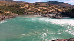 Mountain river show power water in Patagonia Argentina Footage