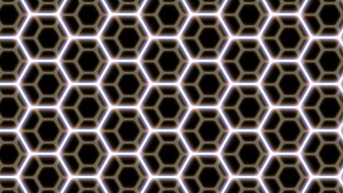 Hexagon patterns 4K CG動画素材