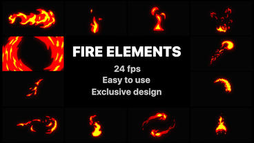 Fire Elements After Effects Template