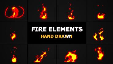 Cartoon Fire Elements Premiere Pro Template