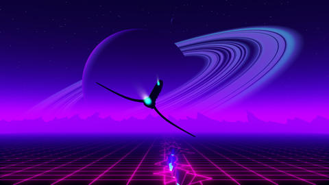VJ 80's Synthwave Emotions Animación