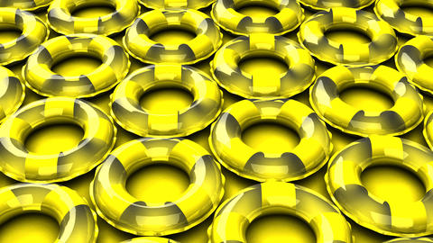 Yellow swim rings on yellow background CG動画