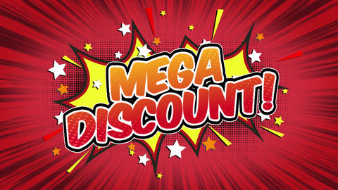 mega discount Word Retro Cartoon Comic Bubbles Seamless loop ( green Screen ) Animation