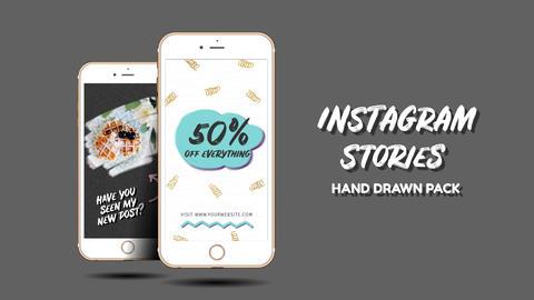 Instagram Stories. Hand Drawn Pack Premiere Proテンプレート
