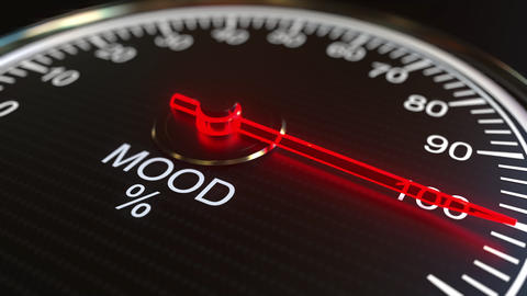 Mood meter or indicator conceptual animation Footage