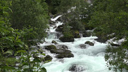 North Europe Norway Geiranger wild water creek between bushes and trees GIF