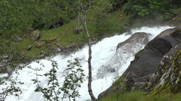 North Europe Norway Geiranger Fossevandring & waterfall in the fjord 画像