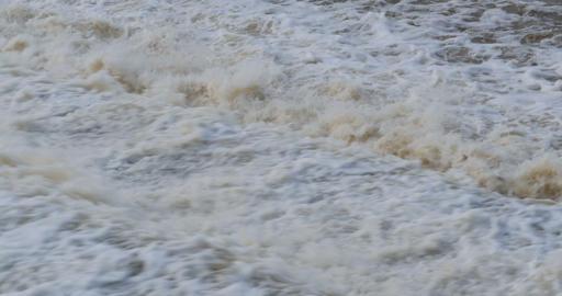 Raging flowing water Footage