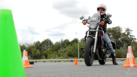Launch pad at motorcycle events, the motorcycle starts Footage