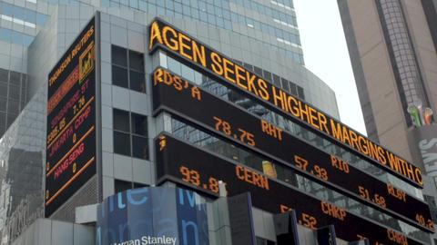 NEW YORK CITY, UNITED STATES - SEPTEMBER 21, 2014 - NASDAQ and financial stock Archivo