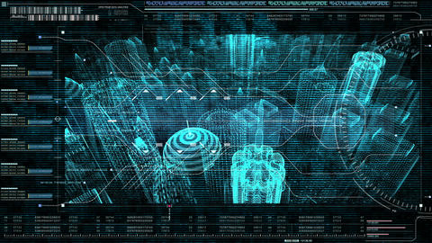 Motion graphic futuristic user interface head up display GIF