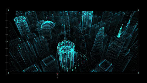 Motion graphic futuristic user interface head up display Animation