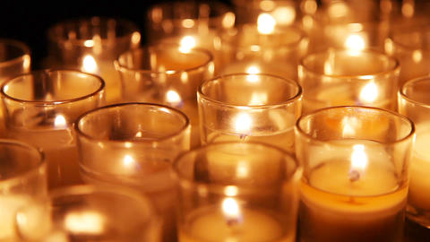 Close Up Background Of Candles Footage