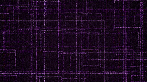 Grid of purple glowing particles Animation