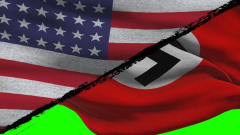 World War 2 America VS Nazi Germany on a Green Screen Footage