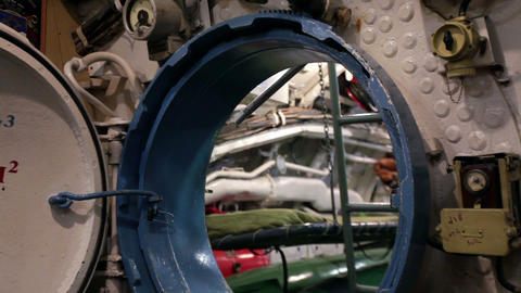 round hatchway submarine Live Action