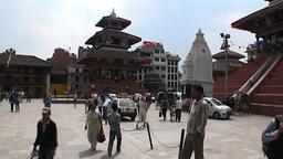 Lifestyle happy people on Durbar Square Kathmandu Nepal Footage