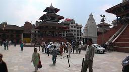 Lifestyle happy people on Durbar Square Kathmandu Nepal Stock Video Footage