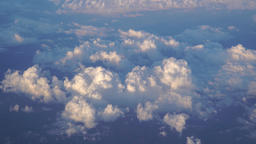 Aerial view with clouds ビデオ