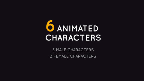 6 Animated Characters After Effects Template