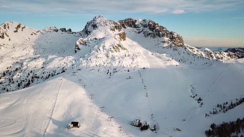 Sky View Of People Skiing On The Italian Alps Italy Footage