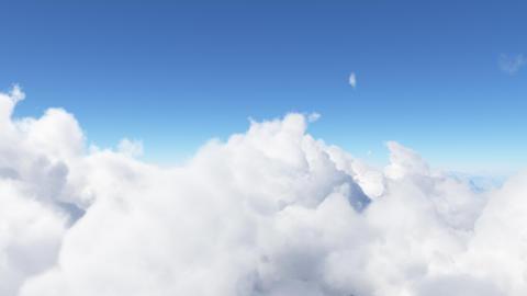 Blue sky with clouds 3D render Fotografía