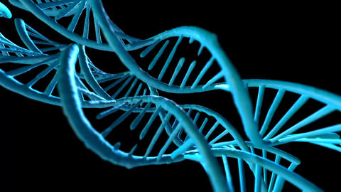 DNA structure and cells abstract background Animation