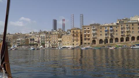 VALLETTA - MALTA, April, 2018: View of the Mediterranean Sea,Valletta and the 영상물