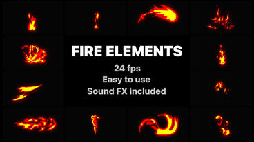 Flash FX Fire Elements After Effectsテンプレート