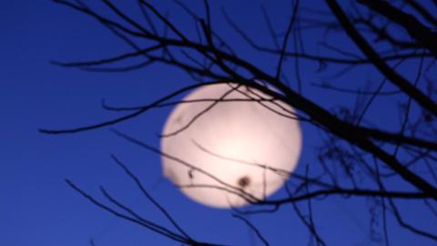 Moon set in the sky Footage