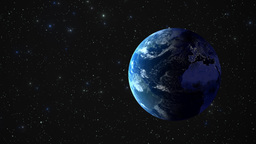 Viewing earth from space as it rotates Animation