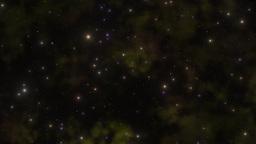 Deep space yellow and orange nebula Animation