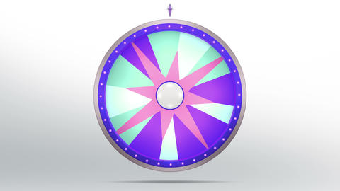 Star lucky spin 12 area purple 4K Animation