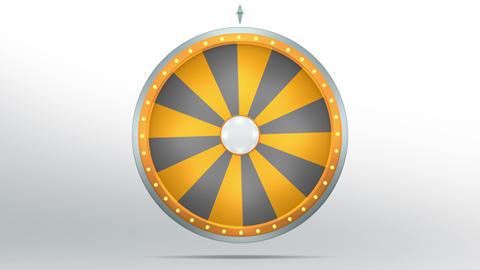 Wheel fortune 16 area orange 4K Animation