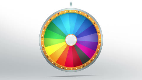 Colourful Graphic In Wheel Of Fortune 1