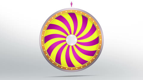 Wheel fortune candy style 4K Animation