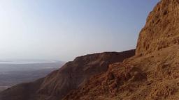 Flight over Masada Mountain Footage