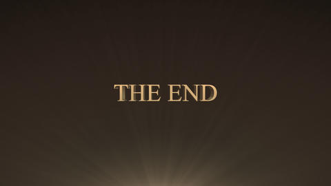 The end title, Stock Animation