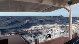 Trace waves on water from ship deck boat of yacht in Argentina Footage