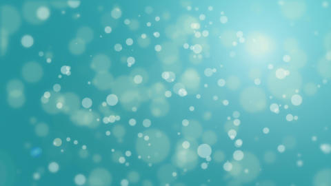 Turquoise blue bokeh particle background Animation