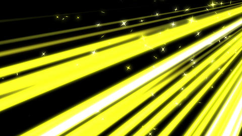 yellow lines and stars moving fast background CG動画素材