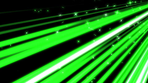 green lines and stars moving fast background CG動画素材