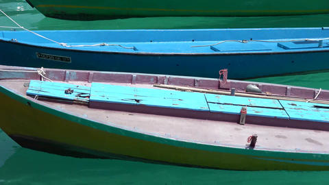 Fishing boats off the coast in the Indian Ocean. Maldives video Archivo