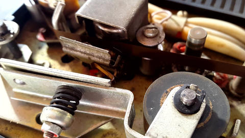 old cassette player mechanism Footage