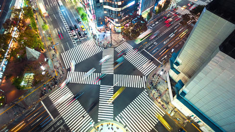 Timelapse of Tokyo at night Footage