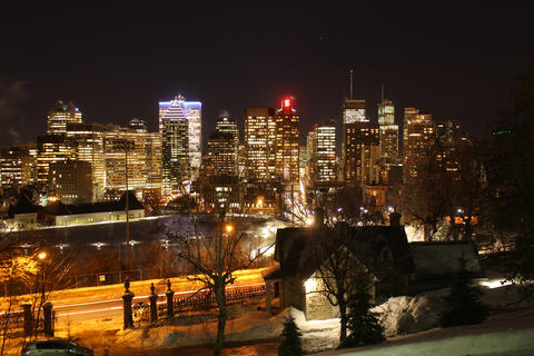 Montreal Skyline in Winter Fotografía