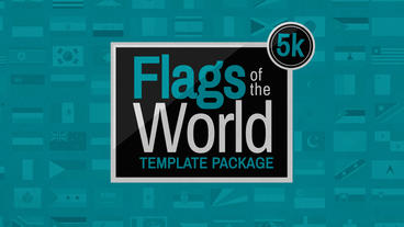 Flags Of The World After Effects Template