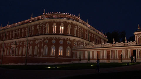 Moscow at night in Tsaritsyno Museum Live Action