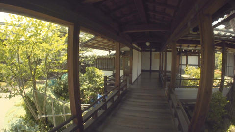 POV tour through a Japanese temple GIF
